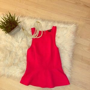 💕Cute pink peplum top!